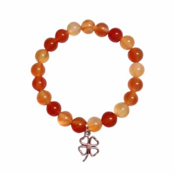 Carnelian Elastic Customisable Charm Bracelet