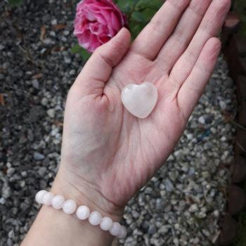 Rose Quartz Elastic Customisable Charm Bracelet