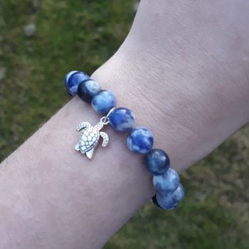 Sodalite Elastic Customisable Charm Bracelet