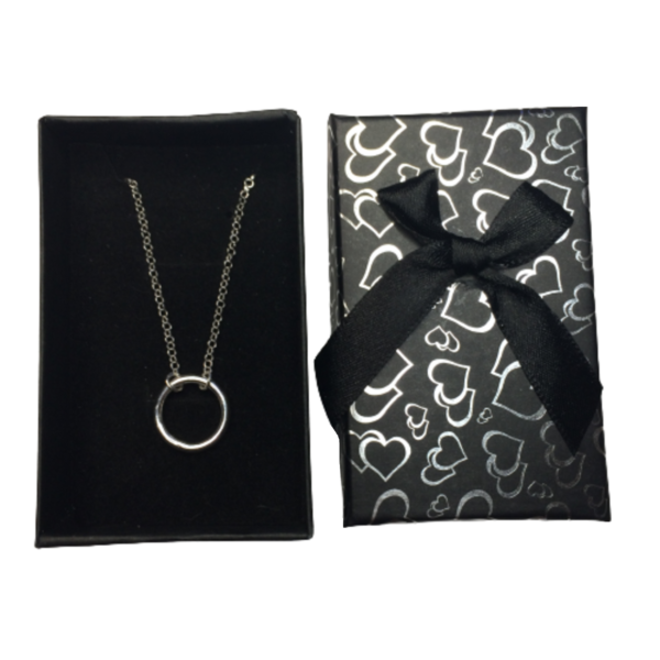 Circle of Karma Pendant 925 Sterling Silver Handmade Necklace in gift box