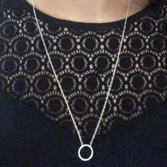 Circle of Karma Pendant 925 Sterling Silver Handmade Necklace