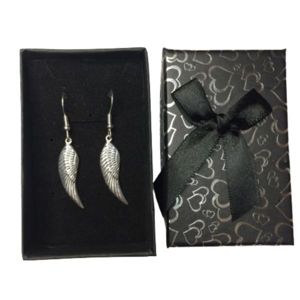 Angel Wing Handmade 925 Sterling Silver Earrings in gift box