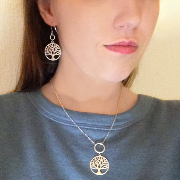 Tree of Karmic Energies 925 Sterling Silver Necklace, Handmade in gift box