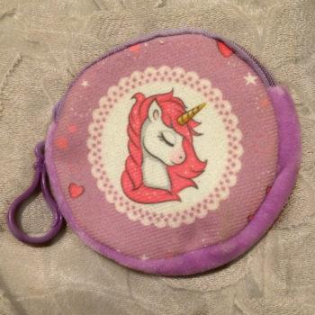 Unicorn Gift Bag, Purple Zipped Pouch