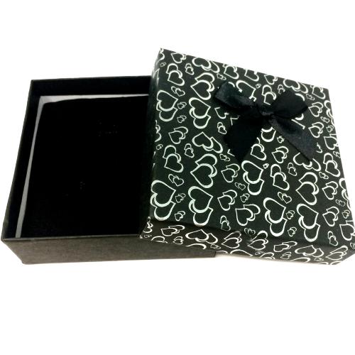 Black Heart Patterned Bracelet Box