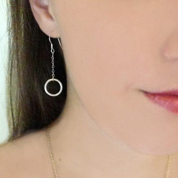 Circle of Karma Drop Chain Earrings