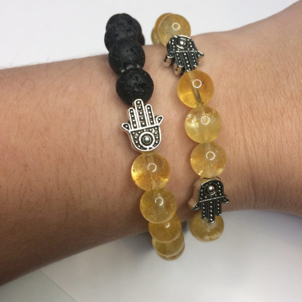 Two citrine bracelets